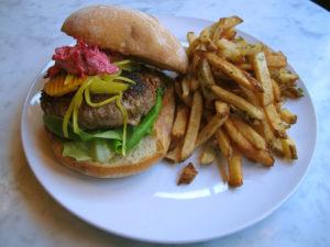 Harissa Spiced Lamb Burger