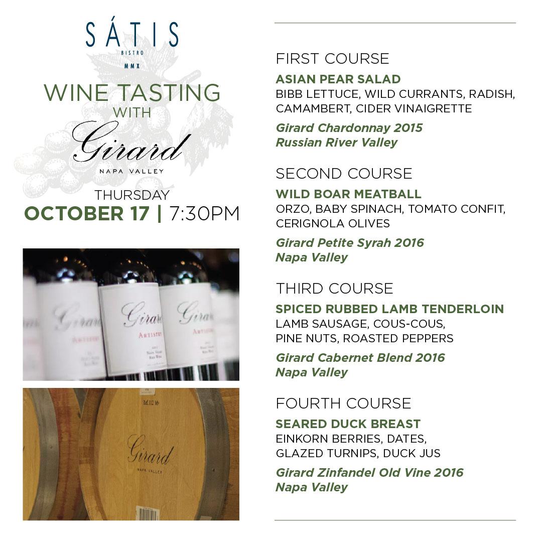 Satis Bistro | Napa Valley Wine Tasting